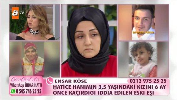 Esra Erol'da hatice çalış kayıp kızını arıyor!