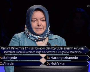 Milyoner'e damga vuran Köprülü Mehmed Paşa sorusu!