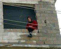 Kayseri'de intihar girişimi! Yürekleri ağza getiren görüntü