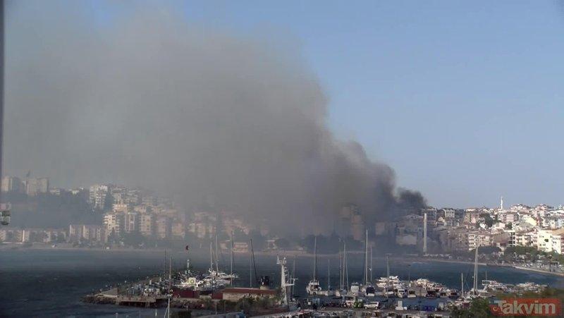 Son dakika... Çanakkale'de yangın!
