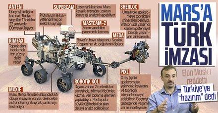 Mars'a gönderilen Perseverance'te Elon Musk'ı reddeden Türk profesörün imzası var! Türkiye'ye ben hazırım mesajı