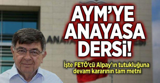 AYM'ye anayasa dersi!