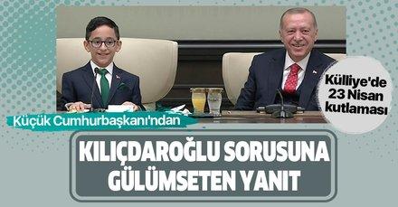 Son dakika: Külliye'de 23 Nisan kutlaması! Küçük Cumhurbaşkanı Ozan Sözeyataroğlu'dan Kılıçdaroğlu sorusuna gülümseten yanıt