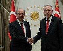 Başkan Erdoğan Ersin Tatar'ı kabul etti