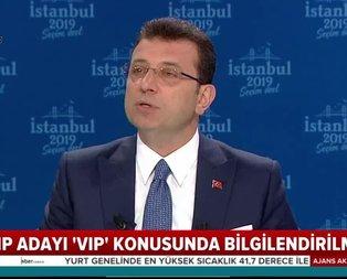 CHP'li İmamoğlu'na 'VIP hakkı' olmadığı telefonla bildirildi!