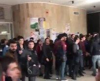 Son dakika: ODTÜ'de PKK dışarı sloganları