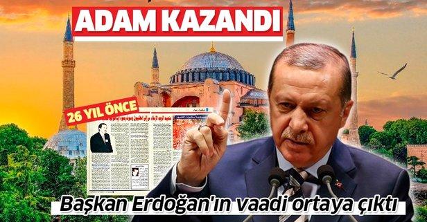 Başkan Erdoğan'ın 1994'teki vaadi ortaya çıktı