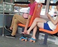 Otobüste böyle yakalanınca...
