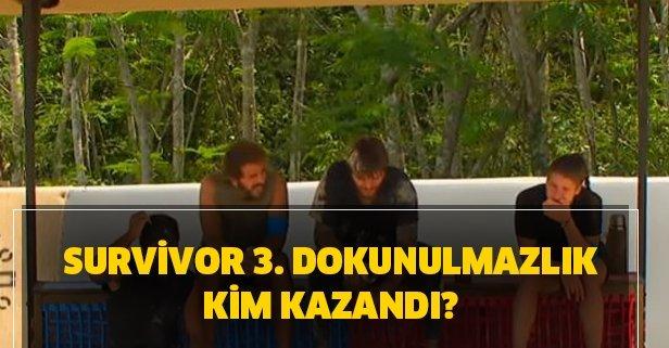 Survivor 3. bireysel dokunulmazlığı kim kazandı?
