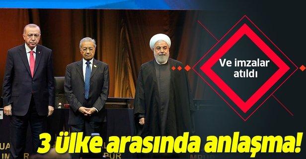 Türkiye-İran-Malezya arasında anlaşma!