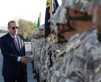 Erdoğan'ın Katar'da Türk birliğini ziyaretinde dikkat çeken ayrıntı