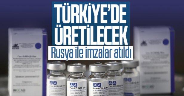 Sputnik- V aşısı için imzalar atıldı