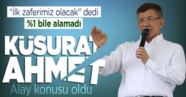 Ahmet Davutoğlu'nun Gelecek Partisi girdiği ilk seçimde yüzde 1 oy bile alamadı - Takvim