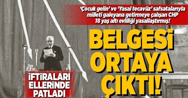 CHPnin iftiraları yine ellerinde patladı