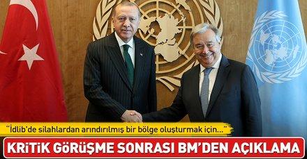 Son dakika... Cumhurbaşkanı Erdoğan Guterres ile bir araya geldi