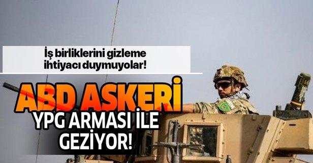 ABD askerleri YPG arması taktı