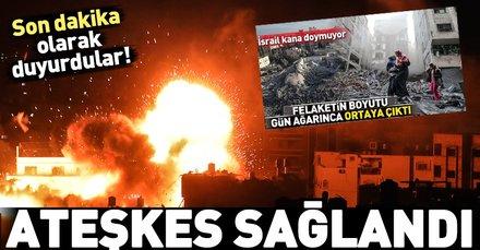 Son dakika... Gazze'de ateşkes sağlandı!
