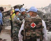 Sudan'da askeri uçak düştü!