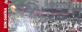Paris'te 1 Mayıs gösterilerinde olay çıktı
