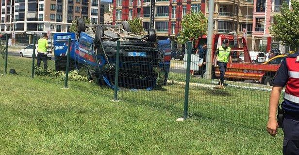Otomobille çarpışan araçtaki 3 asker yaralandı!