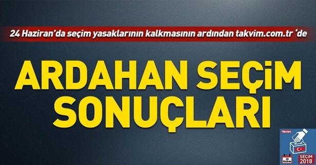 Ardahan seçim sonuçları! 2018 Ardahan  seçim sonuçları... 24 Haziran 2018 Ardahan  seçim sonuçları ve oy oranları...