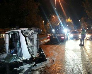 Şişli'de korkutan kaza:4 yaralı