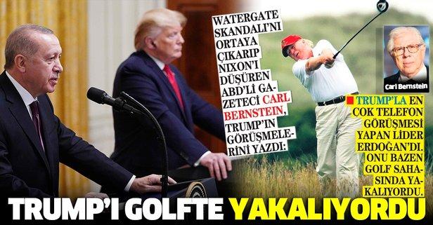 Trump'ı golfte yakalıyordu