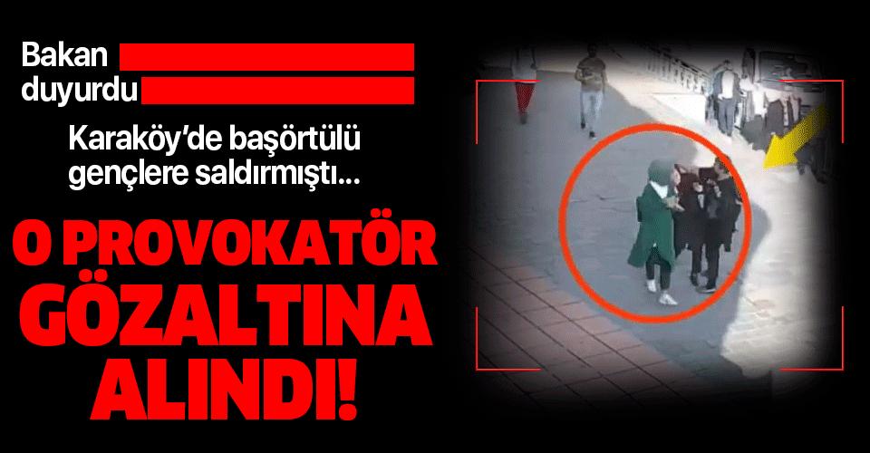 Başörtülü kadınlara saldıran provokatör gözaltında!