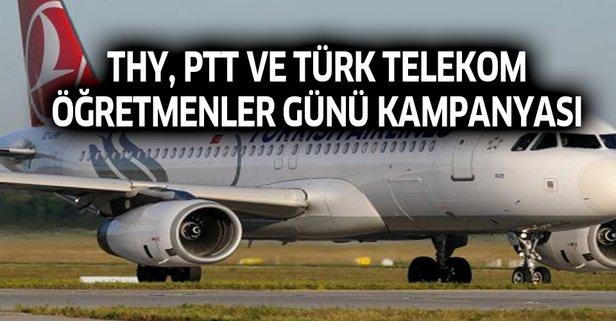 THY, PTT ve Türk Telekom öğretmenler günü kampanyası
