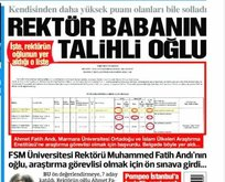 """""""Rektör babanın talihli oğlu"""" haberi de yalan çıktı"""