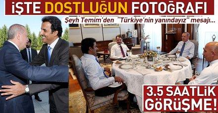 Son dakika: Başkan Erdoğan ve Şeyh Temim'in görüşmesi 3,5 saat sürdü