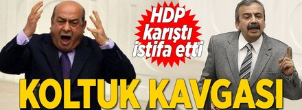 HDP'de koltuk kavgası istifa getirdi