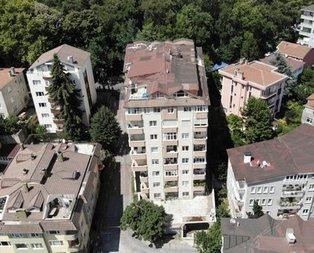 Sarıyer'deki 9 katlı binada çökme tehlikesi devam ediyor