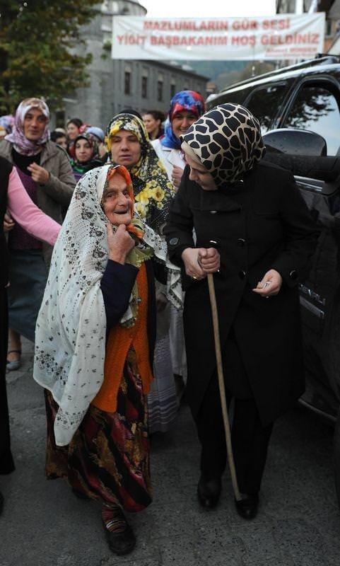 Başbakan Erdoğan Rizede halkla bayramlaştı