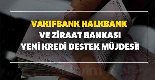Vakıfbank, Halkbank ve Ziraat Bankası yeni kredi destek müjdesi!