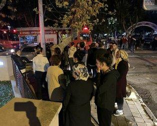 Kadıköy'de 11 katlı binada korkutan yangın