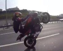 Motosikletli magandalar trafikte dehşet saçtı