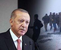 Başkan Erdoğan, şehit ailelerine başsağlığı diledi