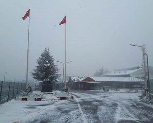 Marmarada kar yağışı başladı