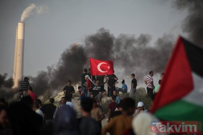 İsrail saldırısından sıcak kareler