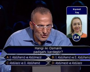Milyoner'e damga vuran Osmanlı sorusu