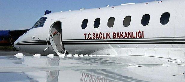 Uçak ambulans Türk mühendis için havalandı