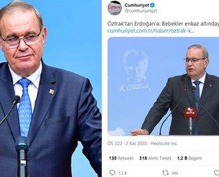 CHP Sözcüsü Faik Öztrak, Başkan Erdoğan'a iftira atarken neden FETÖ'cüleri kaynak gösterdi?