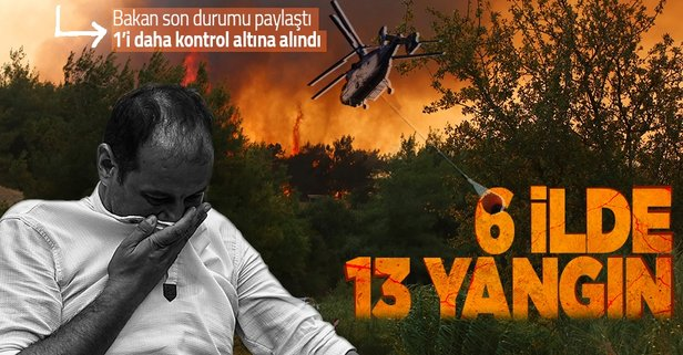 Türkiye'deki orman yangınlarında son durum!