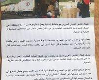 Afrindeki PYD/PKK sığınaklarında Kızılhaç yardımı bulundu