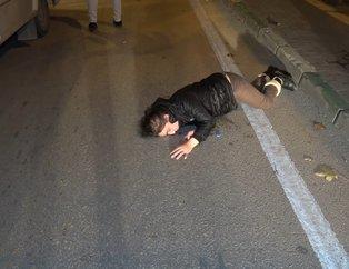 Bursa'da akılalmaz olay! Yol ortasında sinir krizi geçirdi
