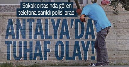 Antalya'da tuhaf olay! Elinde şırıngayla sokak ortasında görüldü