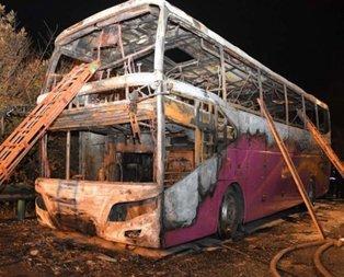 Ülke şokta! Tur otobüsü yandı: 26 ölü, 28 yaralı