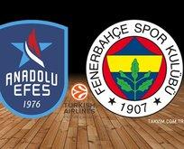 Anadolu Efes - Fenerbahçe maçı hangi kanalda?