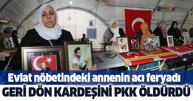Oğlum geri dön kardeşini PKK şehit etti